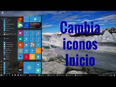 Configurar iconos menú inicio windows 10 en español