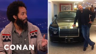 Wyatt Cenac's Rolls Royce Parking Garage Photo Shoot with Conan O'Brien