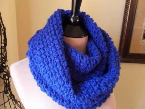 Crochet Infinity Scarf Easy - YouTube