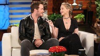 Jennifer Lawrence and Chris Pratt Talk Outer Space Stunts