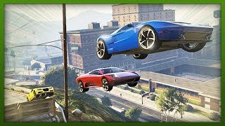 GTA 5 Stunts EXTREME Bike & Car Jumps! Top 5 Stunts