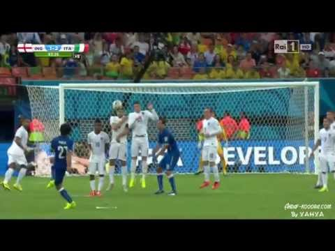 Pirlo INCREDIBLE Free Kick HD - Italy vs England @ World Cup 2014