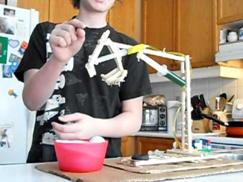 Andrew's Grade 8 Science Project Hydraulic Arm with Syringes