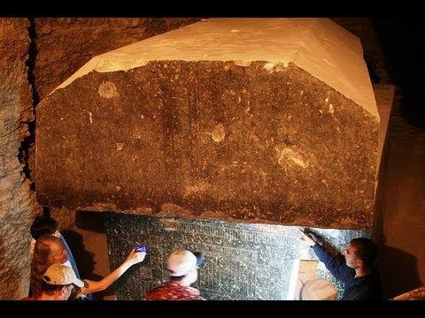 Giant Underground Stone Boxes Near The Pyramids In Egypt