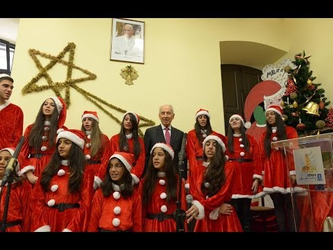 Christmas Blessing by President Shimon Peres