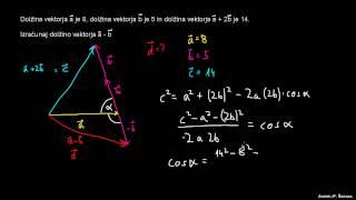 Skalarni produkt – naloga 4