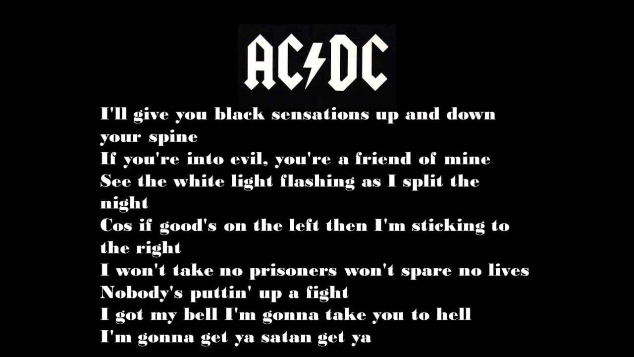 hells bells video lyrics