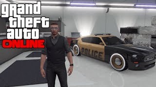 GTA 5 ONLINE - GOLDEN POLICE CAR - GOLD POLICE BUFFALO CAR - MODDED COP CAR (GTA V MULTIPLAYER)
