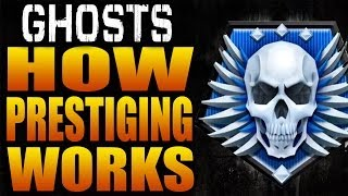 How Prestiging Works in Call of Duty: Ghosts (Ghost Prestige Level Leveling Ranking Up Prestiges)