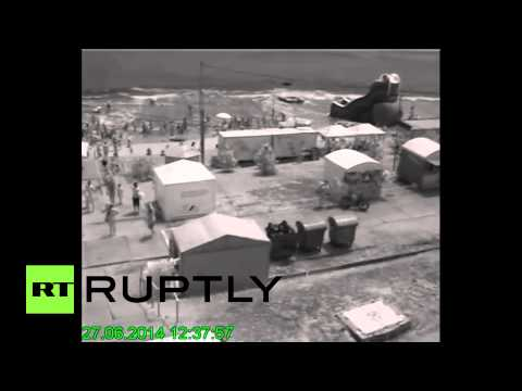 CCTV: Mini tsunami nearly swallows beach near Odessa, Ukraine