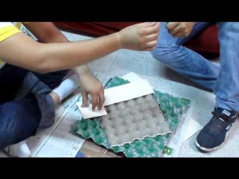 Marco espejo con cajas de huevo youtube - Caja de huevo ...