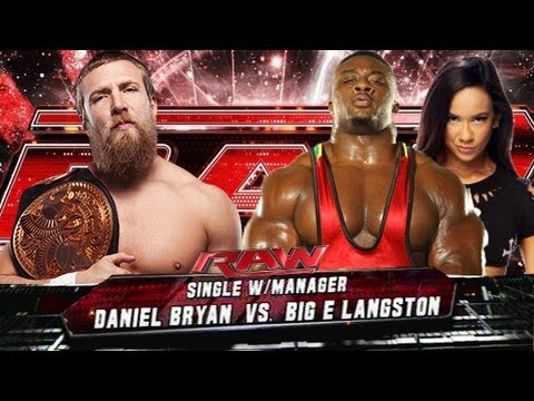 WWE Raw Daniel Bryan Vs Big E Langston HD