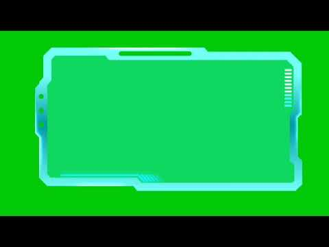 Science Fiction HUD Effect Green Screen. Free to USE. NO COPYRIGHT(5)