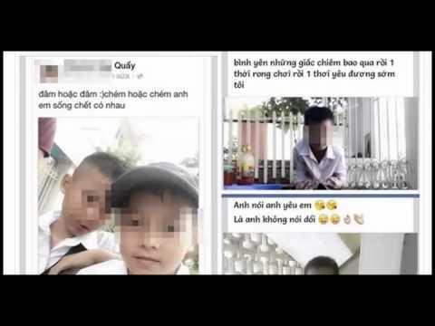 Học sinh lớp 6 khoe chiến tích đâm chém, yêu đương trên Facebook gây xôn xao