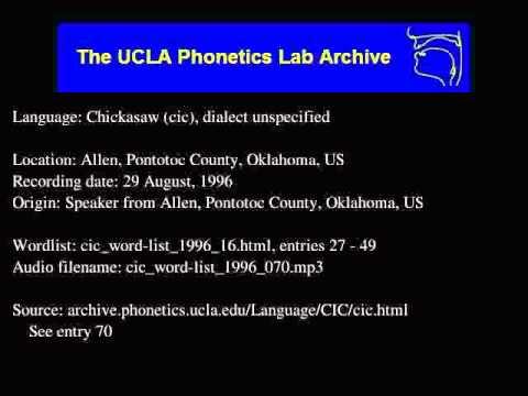 Chickasaw audio: cic_word-list_1996_070