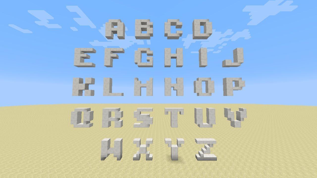 Words In Block Letters