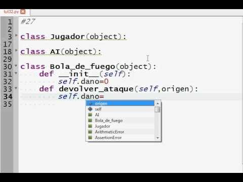 Programacion Python 33: Juego Objetos Parte 2 (Clase Bola de Fuego y Golpe Letal)