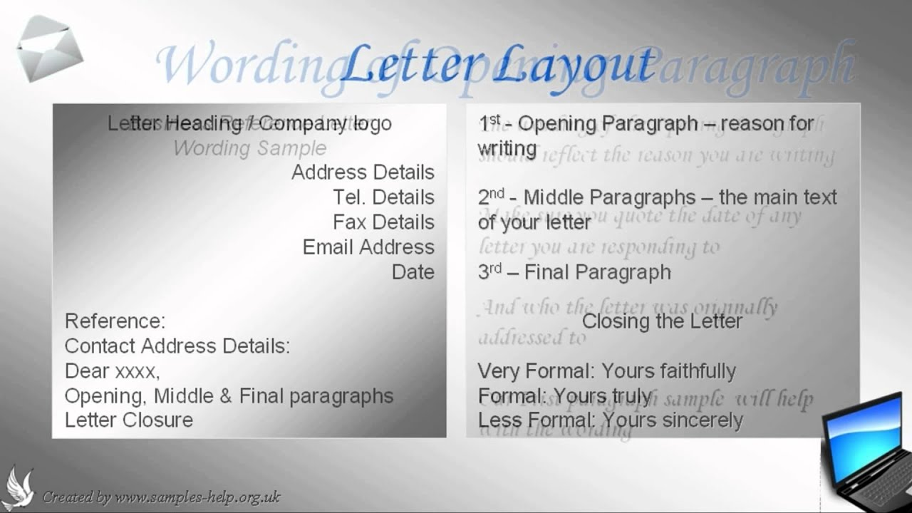 How To Write A Business Reference Letter