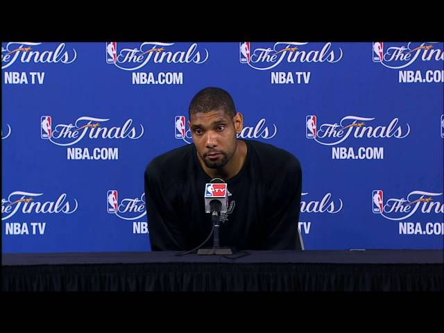 "Tim Duncan NBA Finals Press Conference: ""We'll All Be Ready"""