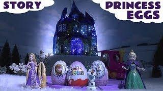 Disney Princess Frozen Elsa Anna Surprise Eggs Kinder Play