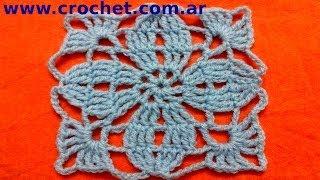 Motivo Cuadrado Granny Square En Tejido Crochet Tutorial