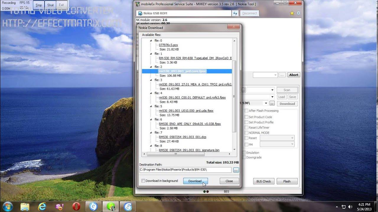 nokia full flash file download