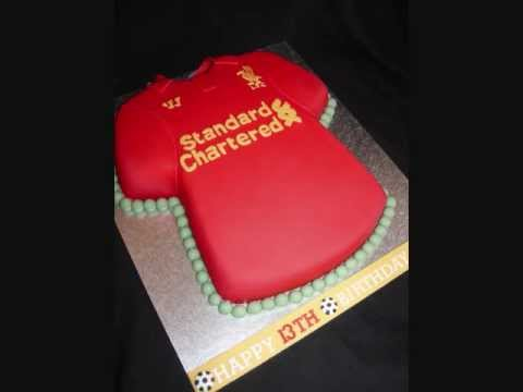 Cake Decorating Football Shirt : Liverpool Football Shirt Fondant Cake - YouTube