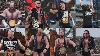 WWE 2K18 Ultimate 8 Man World Champion Match   Cena vs Orton vs RVD vs HHH vs Brock Lesnar vs Eddie