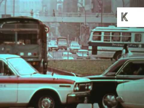 Early 1970s Japan, Busy Roads, Cars, Transport, Colour Archive Footage