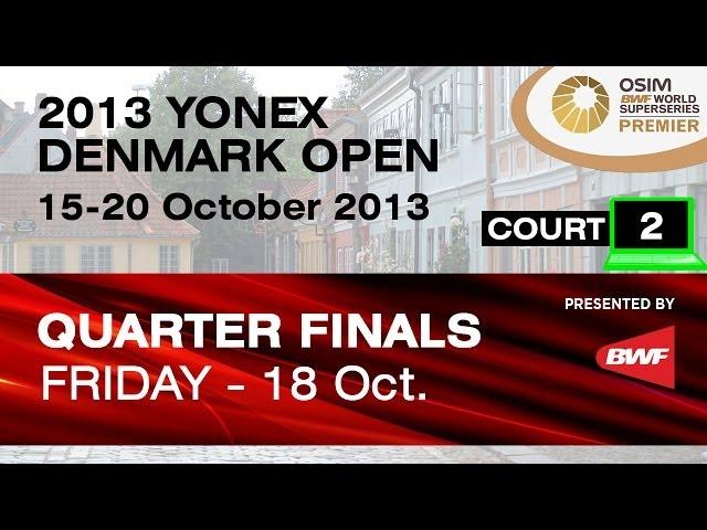 QF (Court 2) - MD - Fu HF. / Hong W. vs M.Boe / C.Mogensen - 2013 Yonex Denmark Open