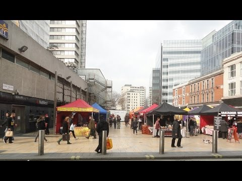 Walking around the Street Food Stalls of Lyric Square Market, Hammersmith Broadway, London   28th Ma