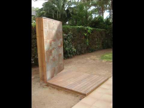 Platos de ducha con madera de exteriores youtube - Duchas exteriores para piscinas ...