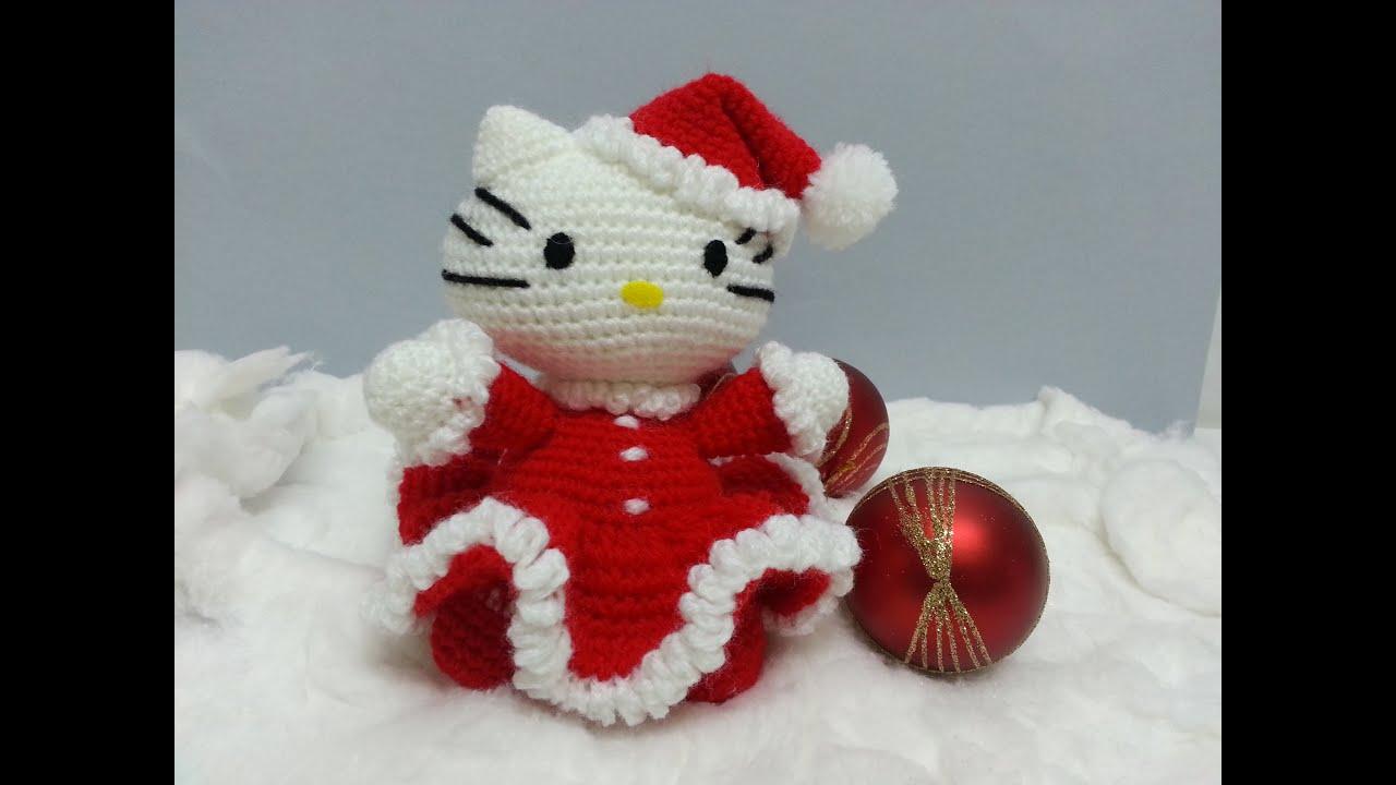 Hello Kitty Kimono Amigurumi Patron : Tutorial amigurumi Hello Kitty Noel - Brazos (English ...
