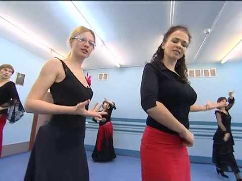 "Танцевальная студия Дива на 5 канале в программе ""Утро на 5"" от 06.12.2012 г. Фламенко."