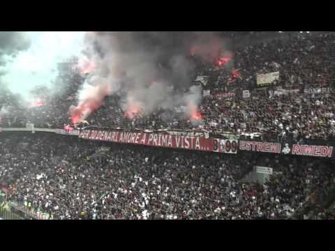 Milan Inter 3-0 Curva Sud Milano ''BOATO CONTRO LEONARDO UOMO DI MERDA'' IN HQ''.