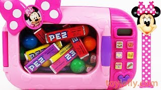 PEZ Compilation Microwave Mickey Mouse Superhero Toys Learn Colors Baby Finger Family Nursery Rhymes