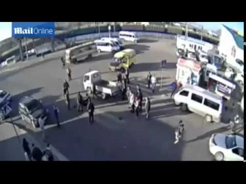 FULL Moment Russian Gran Gets Hit by a Mini Van, Then Run Over by a MINIBUS