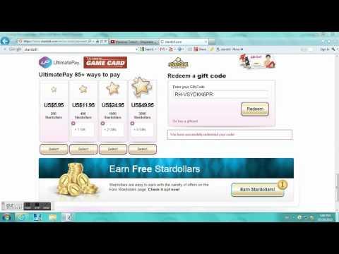 stuffpoint -> Games -> Stardoll -> videos -> STARDOLL! FREE GIFT CODES