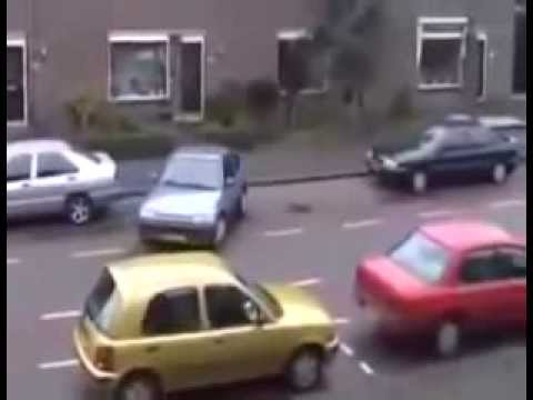 Epic Blonde Woman Parking Fail