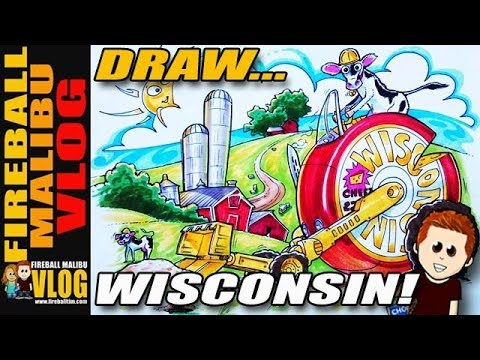 FIREBALL TIM Wacky Rides Monday Sketch WISCONSIN