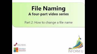 Part 2: How To Change A File Name