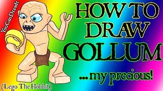 How To Draw Gollum From Lego The Hobbit & Lord Of The