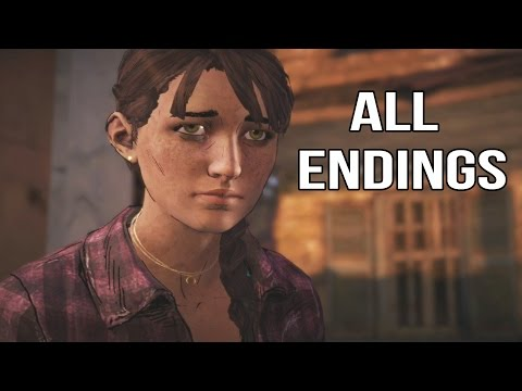 All Endings In The Walking Dead Game Season 3 Episode 3 - All Endings