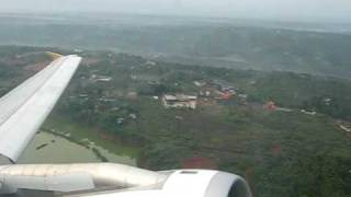 Etihad Airways Airbus A320 Take-off From Calicut Window View