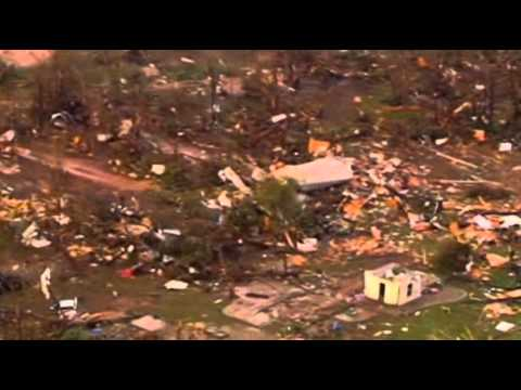 Raw: Heavy Tornado Damage in Shawnee, Okla