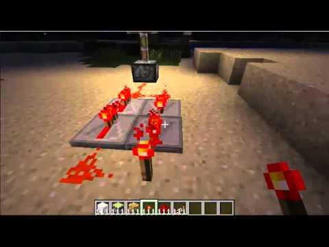 Minecraft How To Make A Strobe Light Youtube