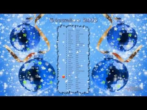 Fond écran animé + screensaver calendrier Noel 2013