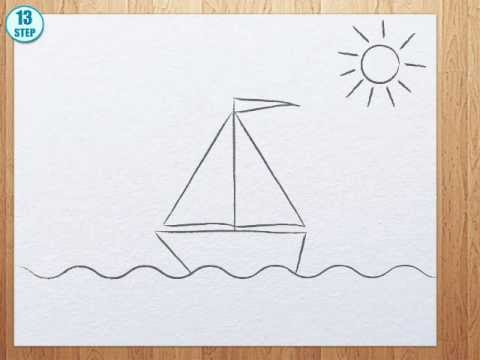 How to draw a boat ste...