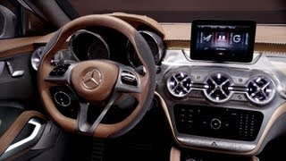 Mercedes GLA concept INTERIOR videos