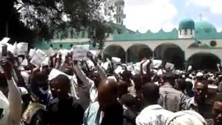 #8 Ethio Muslim Peaceful Demonstration On Apr/11/2014 at Addis Ababa Anwar Masjid